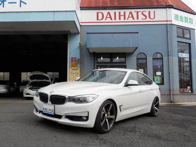 BMW 3シリーズ 320iグランツーリスモ ラグジュアリー ブラウン革シート 20インチブラックポリッシュアルミ 前後ドラレコ 地デジナビ バックモニター