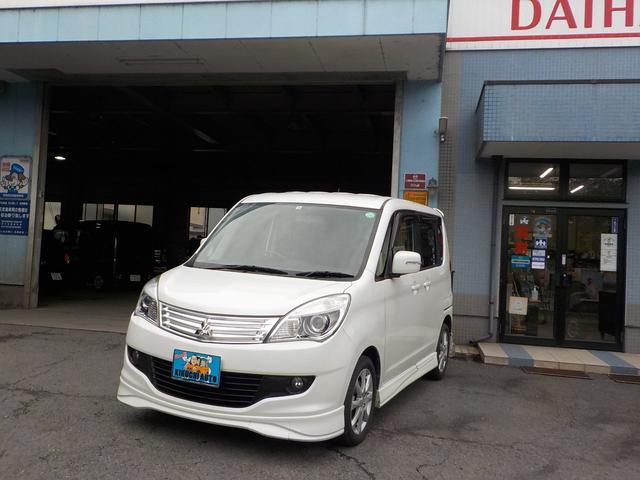 三菱 S ワンオーナー 禁煙車 Bluetooth地デジナビ付 CD DVD再生 Bluetoothオーディオ ETC 両側オートスライドドア スマートキー 保証付