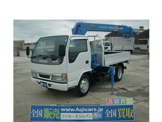 いすゞ エルフトラック 4.8D 4段クレーン 積載3.4t 5MT オールペイント