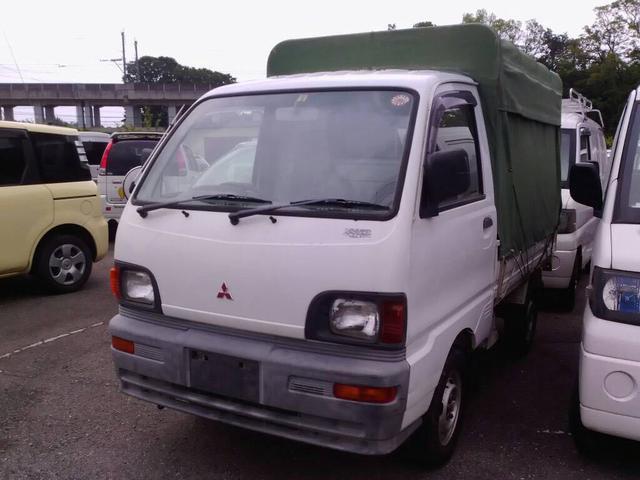 三菱 4WD ホロ付き ホワイト 軽トラック 4速マニュアル