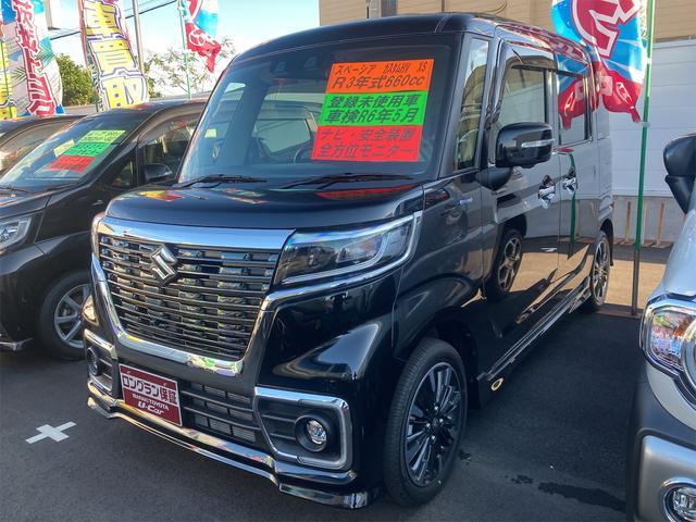 スズキ ハイブリッドXS 緊急ブレーキ コーナーセンサー オートライト アイドリング シートヒータ ABS