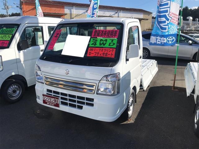 スズキ キャリイトラック KCエアコン・パワステ農繁仕様 4WD AC MT 衝突被害軽減システム ホワイト パワーウィンドウ