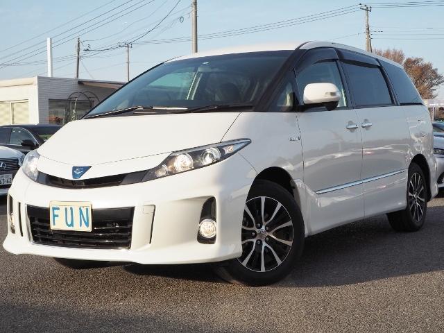 トヨタ アエラス レザーパケ 2ナビ 黒革 両自動 Pトランク