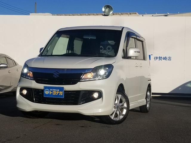 スズキ ベースグレード 7インチメモリーナビフルセグTVワンオーナーディスチャージヘッドライトETC車載器車検整備つき