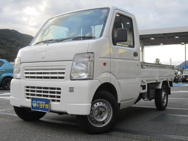 スズキ KCエアコン・パワステ 4WD 5速マニュアル 走行4965km リヤゲートチェーン アッパーメンバーガード アングルポストプロテクター