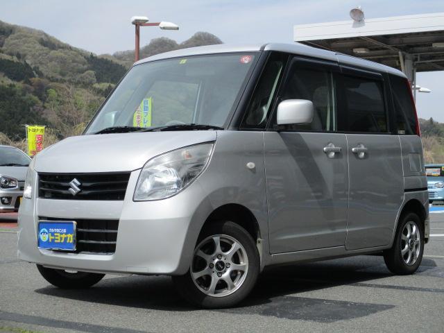 スズキ X ターボ 4WD 電動スライドドア シートヒーター キーレスプッシュスタート オートエアコン CDステレオ 盗難警報装置 社外アルミ ワンオーナー