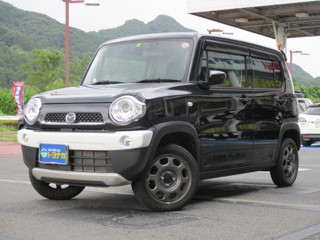 マツダ フレアクロスオーバー XG 4WD ハイブリッド デュアルカメラブレキーサポート フルセグナビ バックカメラ ETC HIDライト フォグランプ オートライト オートエアコン エコクール シートヒーター キーレスプッシュスタート ヒルディセントコントロール グリップコントロール