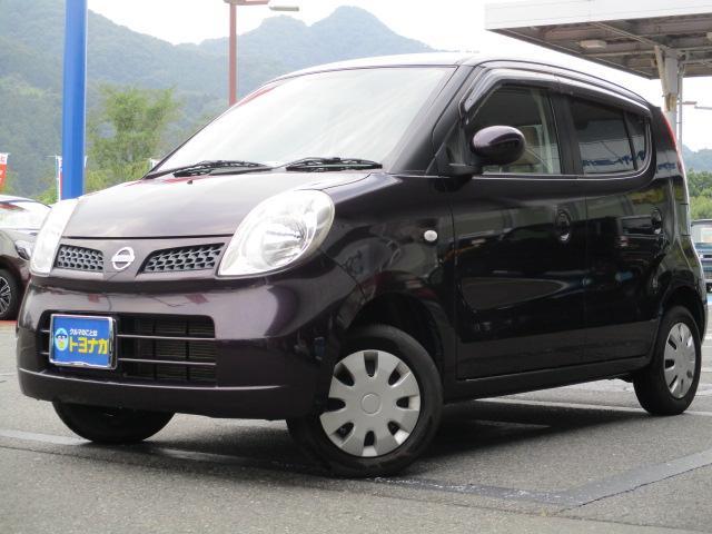 日産 モコ E FOUR 4WD インテリジェントキー シートヒーター オートエアコン オートライト 純正CDステレオ 盗難警報装置 ベンチシート インパネシフト 電動格納ドアミラー 照明付バニティミラー 助手席アンダーBOX