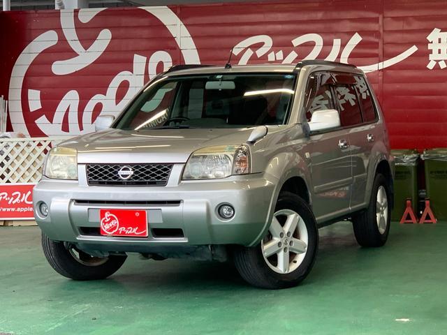 日産 X キーレスエントリー 4WD ABS 革シート シートヒーター 純正AW 純正ナビ