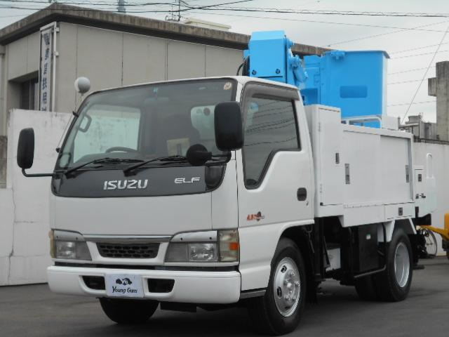 いすゞ エルフトラック 4.8ディーゼル 高床 Bパック 高所作業車 バックカメラ