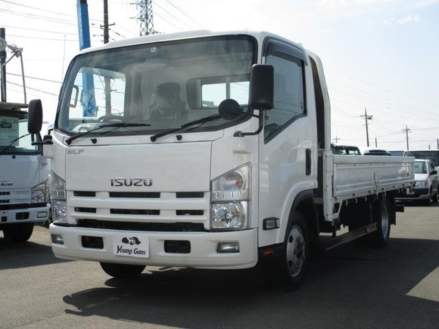 いすゞ 3.0D平ボディワイドロングFFロー 2トン積載 荷台塗装済