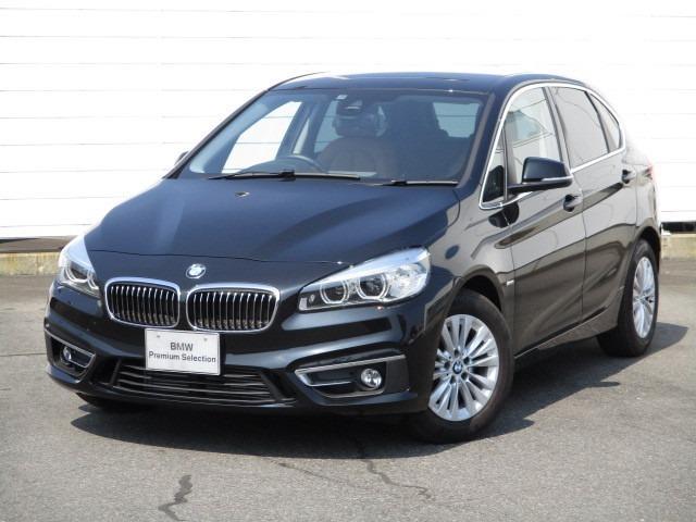 BMW 218dアクティブツアラー ラグジュアリー 禁煙車 ブラウンレザー オートトランク 純正ナビ バックカメラ インテンジェントセーフティ LEDヘッドライト コンフォートアクセス