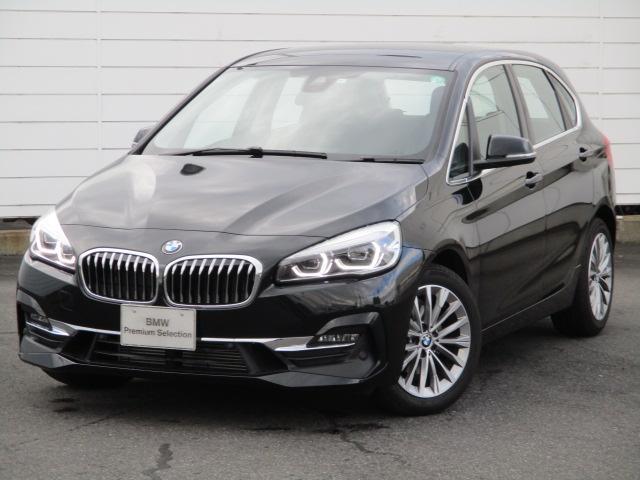 BMW 2シリーズ 218dアクティブツアラー ラグジュアリー 弊社社有車 禁煙車 純正ナビ バックカメラ ブラックレザーシート ヒーター Bluetooth ウッドパネル パワーシート 純正17AW