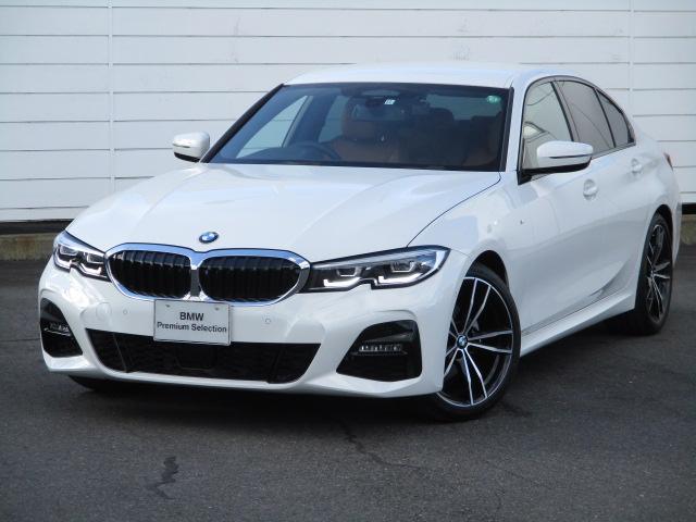 BMW 320i Mスポーツ ワンオーナー 禁煙車 純正ナビ バックカメラ コニャックレザーシート ヒーター アクティブクルーズコントロール インテリジェントセーフティ コンフォートアクセス ウッドパネル 純正19インチAW