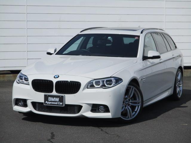 BMW 5シリーズ 535iツーリング Mスポーツ 純正HDDナビ 地デジ ブラックレザーシート ヒーター 電動パノラマサンルーフ 禁煙車 バックカメラ PDC アクティブクルーズコントロール LEDヘッドライト 純正19インチAW パドルシフト