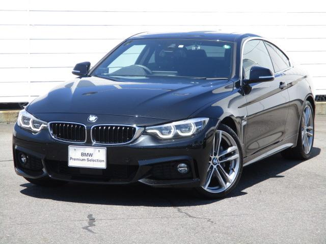 BMW 4シリーズ 440iクーペ Mスポーツ ワンオーナー 禁煙車 ブラックレザーシート シートヒーター アクティブクルーズコントロール ヘッドアップディスプレイ パドルシフト 地デジ 電動ガラスサンルーフ haman/Kadon 純正19インチ