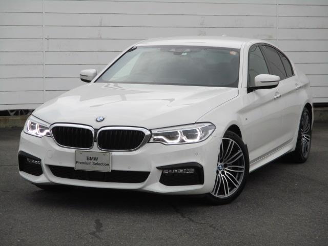 BMW 5シリーズ 523i Mスポーツ ハイラインパッケージ 禁煙車 アクティブクルーズコントロール ブラックレザーシート F・Rシートヒーター 純正ナビ ETC バック・トップビューカメラ 純正19インチアロイホイール オートトランク LEDヘッドライト