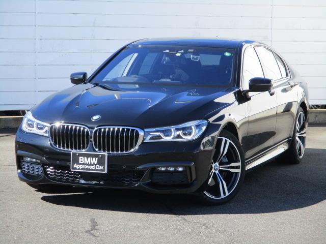 BMW 740d xDrive Mスポーツ 禁煙車 電動ガラスサンルーフ 純正ナビ 地デジ BMWレーザーライト ブラックレザーシート シートヒーター アクティブクルーズコントロール ヘッドアップディスプレイ 純正20インチアロイホイール