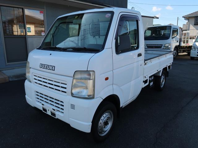 スズキ KCエアコン・パワステ パートタイム4WD 5速MT 三方開 作業灯 最大積載量350kg