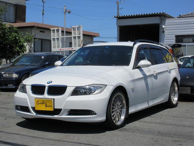 BMW 320iツーリング ブレイトン18インチアルミ 社外ナビTV