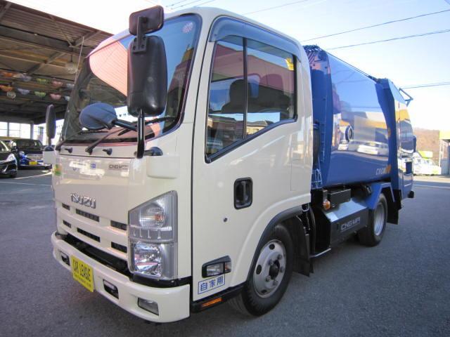 いすゞ エルフトラック CNG・2トンプレスパッカー4.1立米