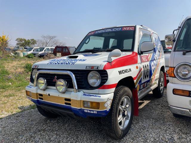 三菱  デカルコデモカー 5速マニュアル 4WD 社外ステアリング ターボエンジン 記録簿あり