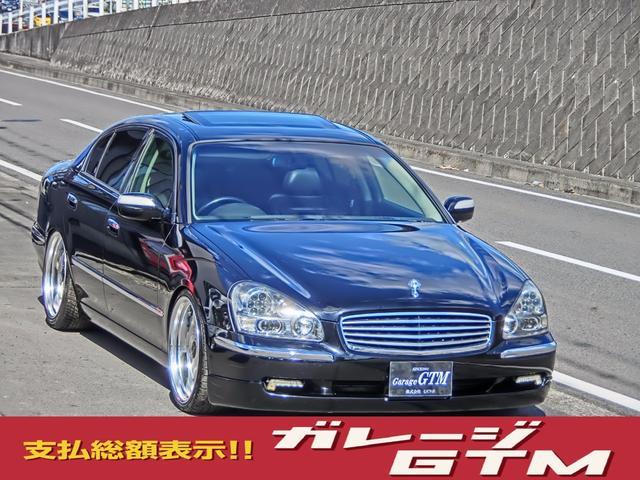 日産 黒革サンルーフ車高調20インチ3000ccターボ280馬力
