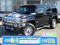 ハマー H3タイプG 4WD HDDナビ Bカメラ 黒革 三井物産