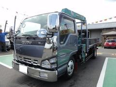 エルフトラッククレーン3段フックイン ETC 積載2t
