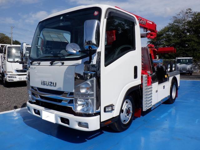 いすゞ エルフトラック  レッカー車 4WD クレーン3段 ラジコン