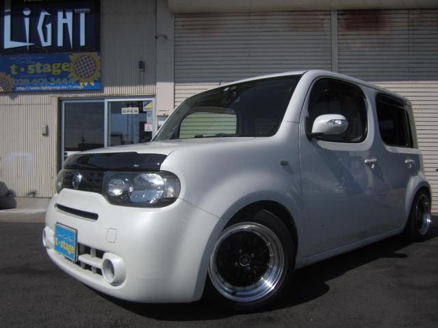 日産 15X Vセレクション 社外15インチAWフルタップ車高調レザー調シートカバー