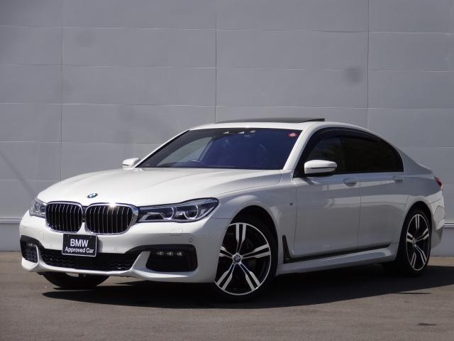 BMW 740d xDrive Mスポーツ 3Lディーゼルターボ 8速AT xDrive(4WD) 純正HDDナビ ACC サンルーフ レザーシート シートヒーター ベンチレーション 電動シート パドルシフト 純正20インチアルミホイール