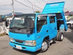 エルフトラック新明和製Wキャブダンプ 4ナンバー 6人乗り 積載2t