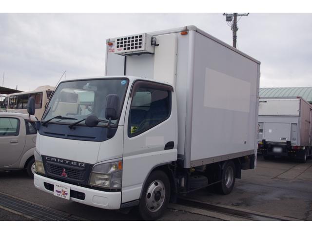 三菱ふそう キャンター パネルバン 新明和製垂直ゲート付冷凍車 積載2t