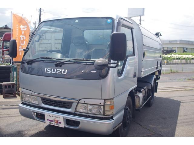 いすゞ エルフトラック 富士車輌製回転式パッカー車 オートマ 4.4立米 積載2t