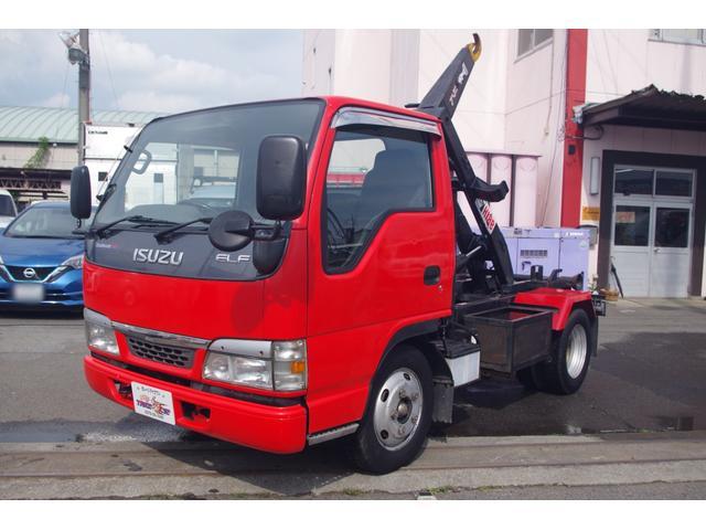 いすゞ エルフトラック  脱着装置付コンテナ専用車(アームロール) 4.8ディーゼル 積載3t 5MT