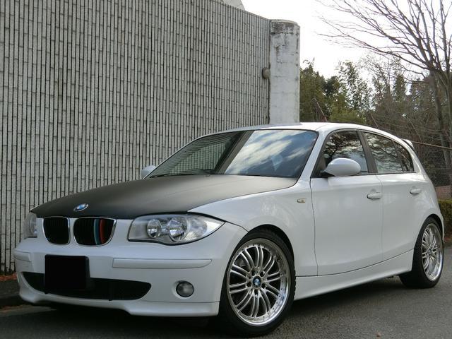 BMW 118i ETC カーボン調ラッピングボンネット Pスタート