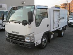 エルフトラック2t低温冷凍 小型枠車 移動間仕切付