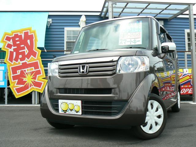 ホンダ N-BOX+ 2トーンカラースタイル G・Lパッケージ プッシュスタート スマートキー 片側パワースライドドア エアバッグ ABS タイミングチェーン アイドリングストップ