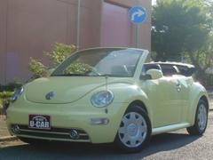 VW ニュービートルカブリオレディーラー車 右ハンドル ブラックレザーシート 車検整備付