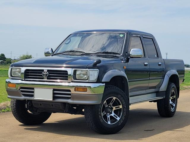 トヨタ ダブルキャブ SSR-X ワイド ダブルキャブ SSR-X ワイド ディーゼル ターボ KB-LN112 Wキャブ 15AW メッキバンパー メッキミラー リアフィルム ドアバイザー ウッドハンドル 4WD 車検令和3年12月7日迄