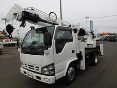 エルフトラック0742 穴掘建柱車 アイチ製D502 オーガ