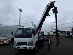 キャンター07154 穴掘建柱車DT600 DPF未装着 NOxPM適