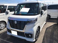 スペーシアカスタムハイブリッドXS 軽自動車 LED 整備付 インパネCVT