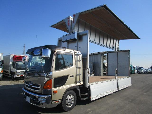 日野 山田車体製アルミウイング リヤエアサス