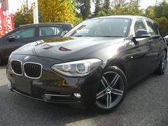 BMW120i スポーツ レッド本革シート HDDナビ Bカメラ