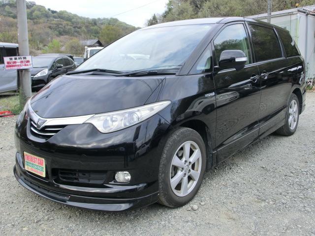 トヨタ エスティマハイブリッド X 4WD パワースライドドア プッシュスタータイミングチェーン ETC HID