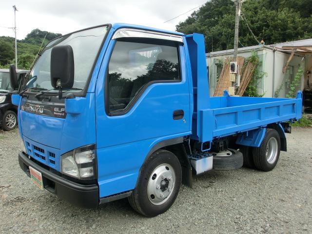 いすゞ エルフトラック 強化ダンプ 5MT タイミングチェーン ABS ETC クラッチフリー