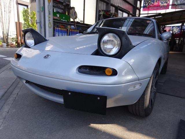 ユーノス 幌 レインレ-ル新品 TEIN車高調 外アルミ 外ハンドル