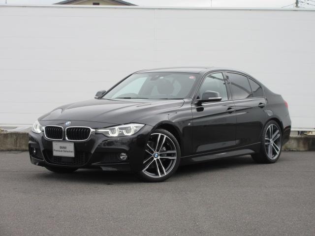 BMW 3シリーズ 320i Mスポーツ エディションシャドー LEDヘッドライト 純正HDDナビ 純正ETC コンフォートアクセス レザーシート シートヒーター ACC レーンチェンジウォーニング PDC バックカメラ SOSコール 純正19インチ